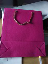 Handled Pink Colored Paper Bag, For Shopping, Capacity: 1kg