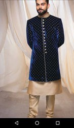 Silk Mens Wedding Sherwani Velvet