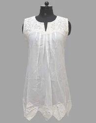 Sleeveless Women Cotton Tops