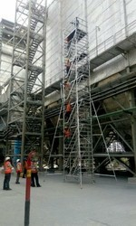 Silver Aluminum Mobile Scaffold, Scaffolding Ladder, 4