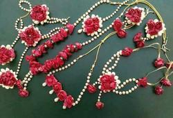 Red Flower Jewellery At Rs 1400 Set Flower Jewellery Id