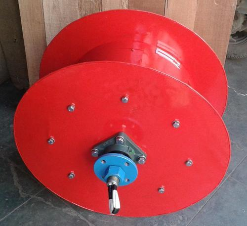 Ms Red Spring Operated Cable Reeling Drum, Capacity: 100-150 litres