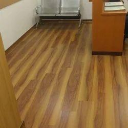Brown Rectangular PVC Flooring