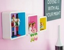 Colorful Square Set of 3 Wall Shelves