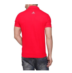 Red Addidas Back Logo T-Shirt, Size: S-XXL