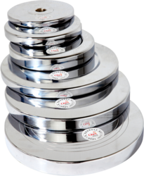 Chrome Plated & Rubber Weight Plates, weight : 1 kg to 20 kg