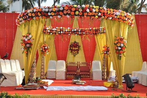 Outdoor wedding stage decoration in anna nagar chennai r m k outdoor wedding stage decoration junglespirit Images