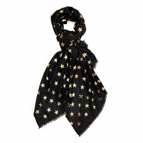 Star Foil Printed Scarves
