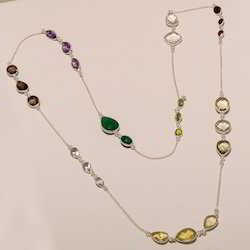 Sterling Silver Multi Stone Necklaces