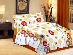 Multicolor None Designer Printed Double Bed Sheet, Size: Standard