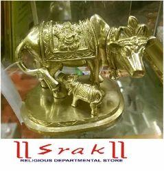Brass Kamdhenu Cow Statue