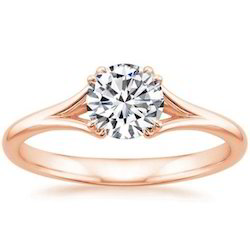 Certified 0.30CT Round Real Diamond Solitaire Engagement Ring