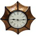 Brass Covered Analog Wall Clock