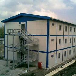 Steel Panel Build Prefabricated Double Story Building