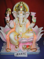 Ganesh Statue On Lotus