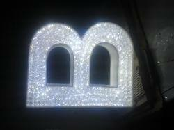 crystal letters crystal letters display manufacturer from new delhi