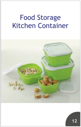 food storage containers, Capacity: 1 Kg