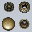 Antique Brass Metal Snap Fasteners, Packaging Type: Polypack, Size: 15mm