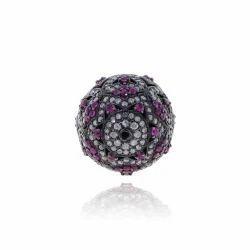 Diamond Ruby Spacer Bead