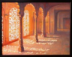 Matte Wooden Fort Painting