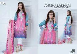 Cotton Aysha Lakhani Vol 4 Suit, 80-120