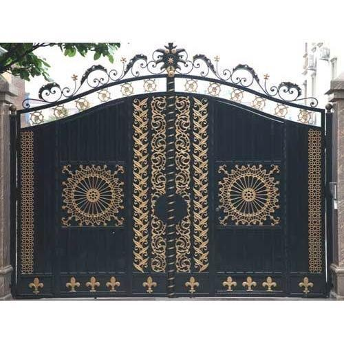 Latest Cheap Indian House Wrought Iron Steel Main Gate: Bunglow Main Gate At Rs 250 /square Feet