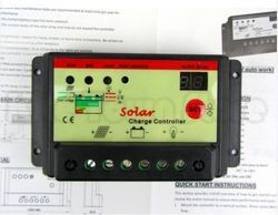 12V 24V 10A Dual LED Solar Panel Charge Control Controller