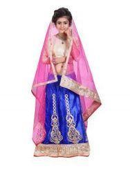 Blue& Pink Wedding Wear Kids Lehenga Choli