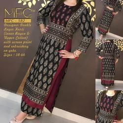 Anarkali and Straight Stitched Designer Kurti