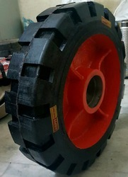 Rubber Bonded Trolley Wheel 16 x 4
