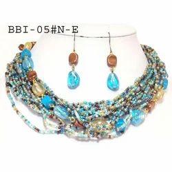 Brass Beaded Necklace Set