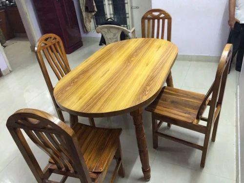 Teak Wood Dining Table Set at Rs 13500 /piece(s) | Nanganallur ...