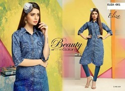 Cotton Denim Kurtis