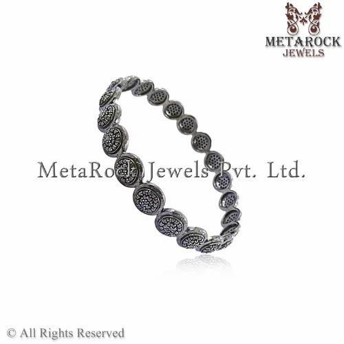 925 Sterling Silver New Fashion Diamond Bangle Jewelry