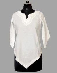 Ladies V-Neck Cotton Top
