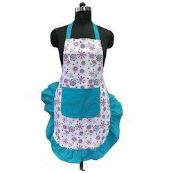 Cotton Printed Frilly Apron, Packaging Type: OPP Bag, Size: M, L & XL