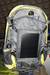 MIX Solar Panel Backpack Bag, Number Of Compartments: 3, Bag Capacity: 20 Kg