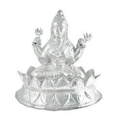 Silver Kamal Laxmi Idol