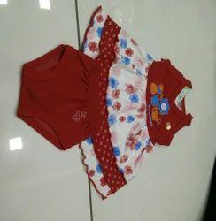 Cotton Regular Wear Baby Frocks