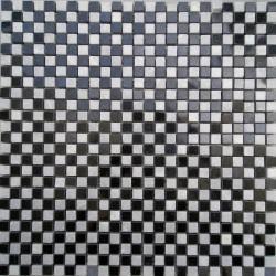 Black & White Glass Mosaics