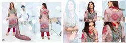 Digital Printed Semi Stitched Salwar Kameez