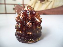 Panchmukhi Ganesha Idol of Hessonite Gemstones