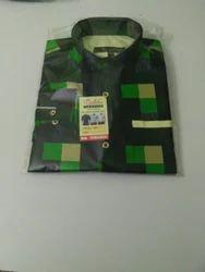 Green Full Sleeves Mens shirts, Size: 40