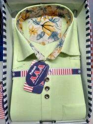 Sai veer shirt 3 collar Boy's Shirt, Size: 32*36