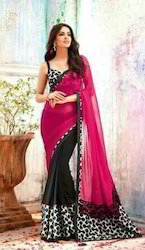 Georgette Party Wear Saree pav1615, With Blouse Piece