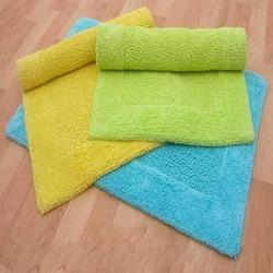 Cotton Reversible Bath Mats With Border