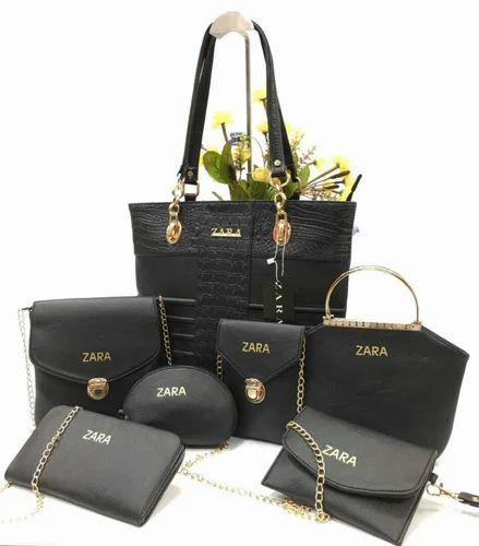 86e7660647 Black Plain Zara Combo Purses