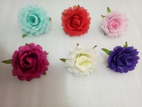 "6 Colour Fulwari Flower Artificial Fabric Rose, Pack Size: 24""*15"""