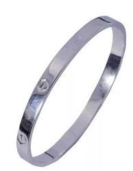 Silver Engraved Simple Kada