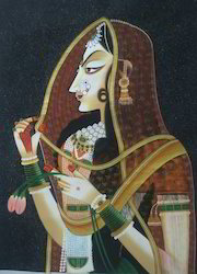 Bani Thani Silk Painting